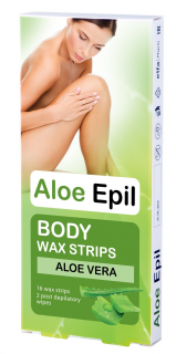 Aloe Epil Body Wax strips 16ks depil.vosk.pásky