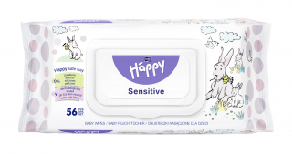 Bella Happy Vlhčené obrúsky Sensitive 56 ks